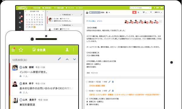 日報システムのスマートフォン、タブレット対応
